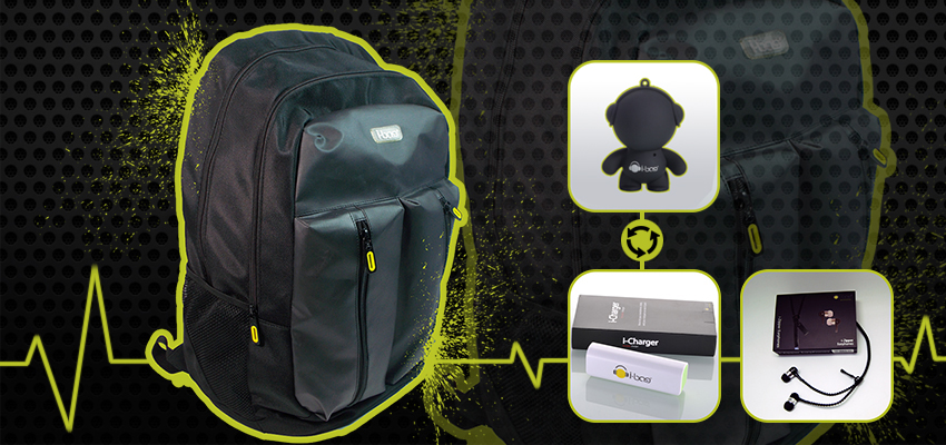 Active Black Gadgets Backpack