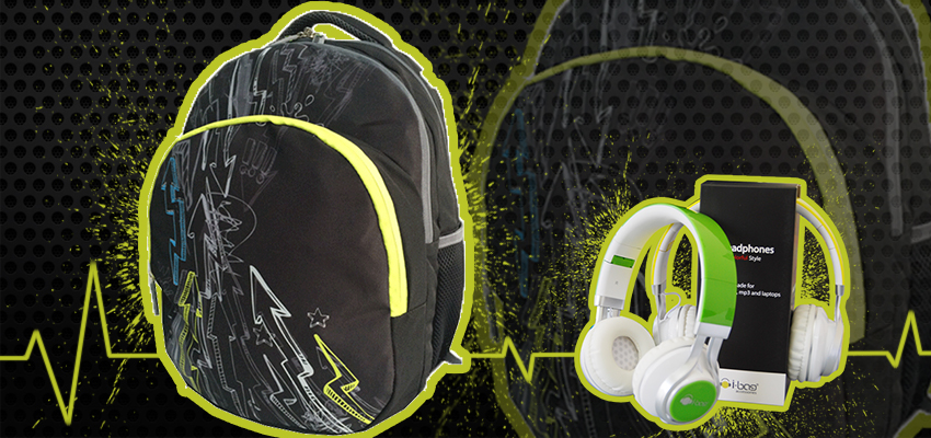 Neon Thunder Gadgets Backpack
