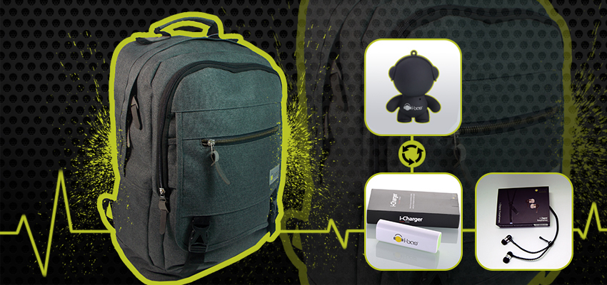 Elite Gray Gadgets Backpack