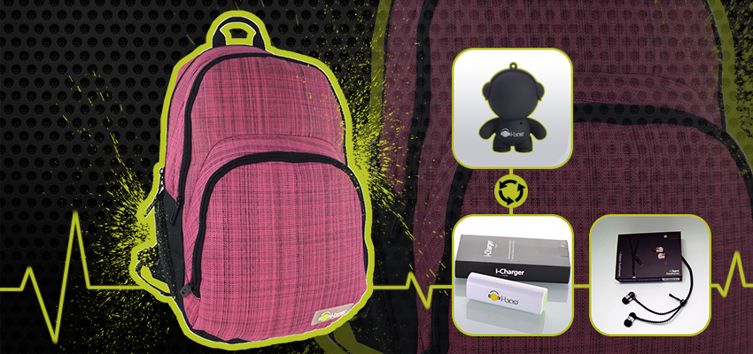 Casual Pink Gadgets Backpack